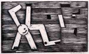 Werner Drews, Distorted Swastika