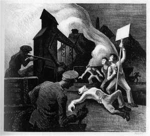 Thomas Hart Benton - Strike