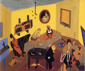 Jacob Lawrence - Interior Scene